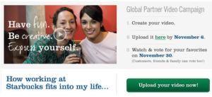 starbucks employee videos zum hochladen_screenshot der site
