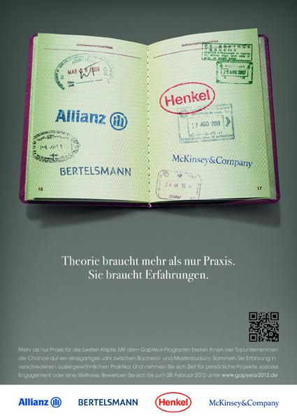 Gap Year Projekt Allianz, Bertelsmann, Henkel, McKinsey