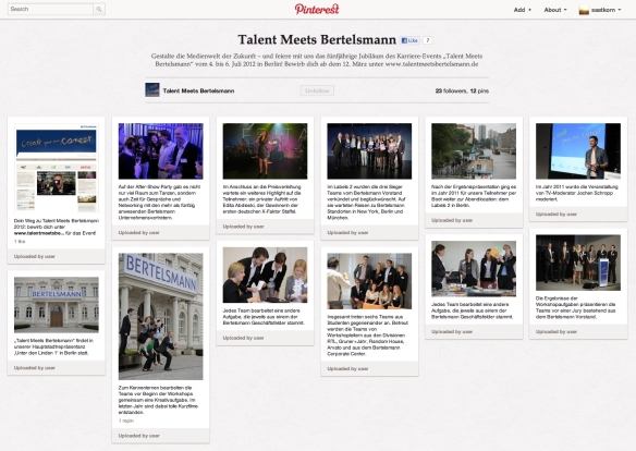 Talent Meets Bertelsmann auf Pinterest