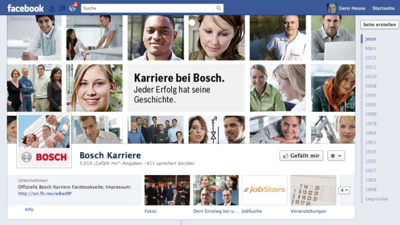 Bosch Karriere facebook Site