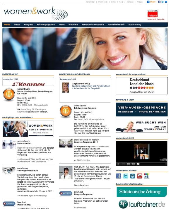 women&work Startseite